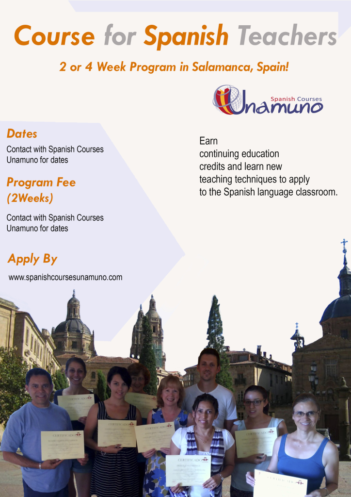Program for teachers in Salamanca