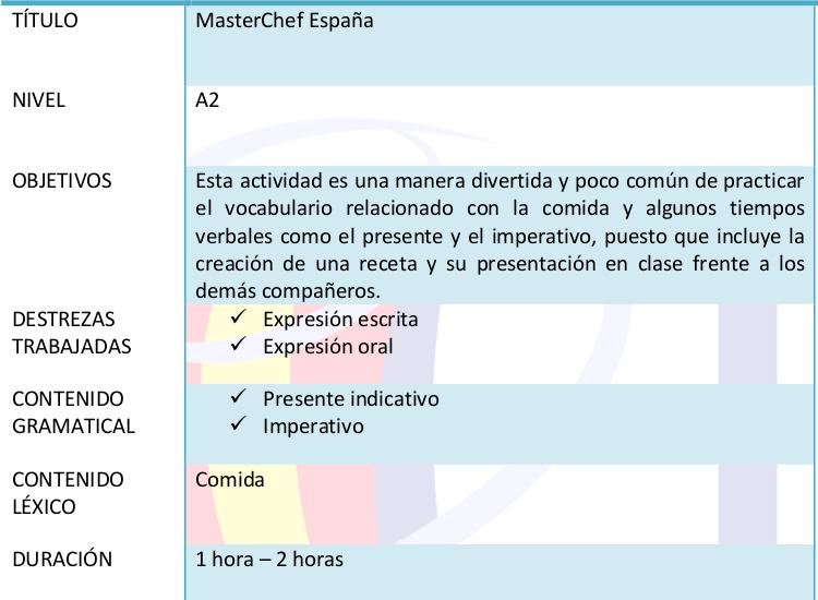 Actividades ELE: Masterchef España